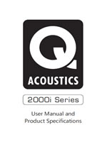 Q Acoustics 2000i Series Manual
